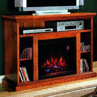 Beverly 48 inch Electric Fireplace Media Console   Premium Oak   23mm374   Space Heaters