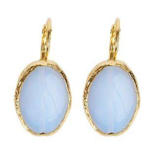 ELYA 24K Gold Plated Brass Moonstone Earrings: West Coast Jewelry: Jewelry