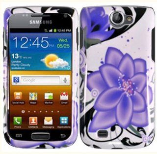 Samsung Exhibit 2 II T679 Design Cover   Violet Lily: Cell Phones & Accessories
