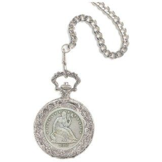 Seated Liberty Silver Half Dollar Pocket Watch: Sports & Outdoors