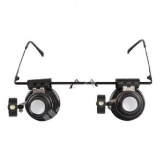 Generic 20x Magnifier Magnifying Eye Glasses Loupe Lens Jeweler Watch Repair LED Light: Home Improvement