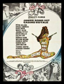 CASINO ROYALE * FRENCH ORIG MOVIE POSTER JAMES BOND '67 Entertainment Collectibles