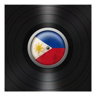 Philippine Flag Vinyl Record Album Graphic Personalized Announcements