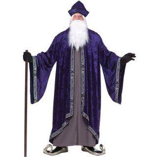 Adult Plus Size XXXL Size 58 Dumbledore Wizard Costume: Clothing