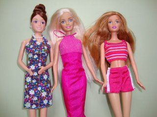 A Set of 6 Outfits and 3 Pairs of Shoes Made to Fit the Barbie Doll Toys & Games