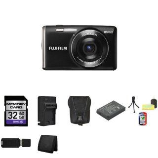 Fujifilm JX700 / JX710 16.0 MP Digital Camera   Black + 32GB SDHC Class 10 Memory Card + External Rapid Charger + Carrying Case + Extra EN EL10 Battery + Mini Tripod Kit + USB SDHC Reader + Memory Wallet : Point And Shoot Digital Camera Bundles : Camera &a