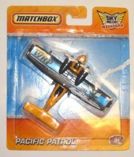 Matchbox Sky Busters Missions Adventure Aircraft   Pacific Patrol Whale Research & Preservation WRP 96 Toys & Games
