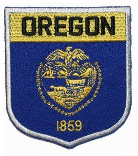 State Of Oregon Shield Flag Embroidered Applique Patch