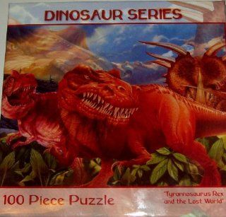 Dinosaur Series  Tyrannosaurus Rex and the Lost World  100 Piece Puzzle Toys & Games