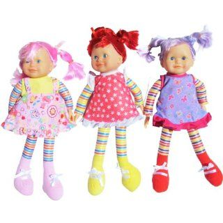 "Soft Doll for Girls (16"")   3 Assorted Styles (One Doll Per Order) Toys & Games"