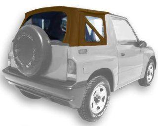 Acme C734/Clear DM1325 Spice on Tan Denim Vinyl SUV Soft Top for Suzuki Vitara / Chevrolet Tracker Automotive