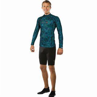 Henderson Lycra Green Camo Long Sleeve Free Dive Rash Guard  Wetsuits  Sports & Outdoors
