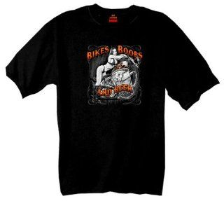 Hot Leathers Hot Leathers Bikes, Boobs & Beer Short Sleeve Tee (Black, Large): Automotive