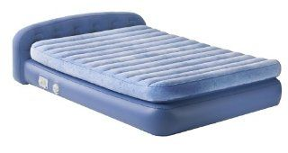 Aerobed Raised Queen Bed with Pillow Support, Stylish Floral Design   Inflatable Beds