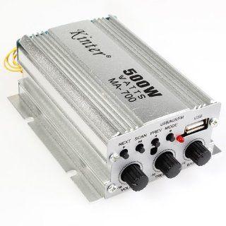 Kinter 2 Channel 500W USB AUX FM  Car Audio Amplifier DC12V With Remote Control Electronics