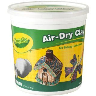 Crayola Air Dry Clay 5 Lb Bucket, White Toys & Games