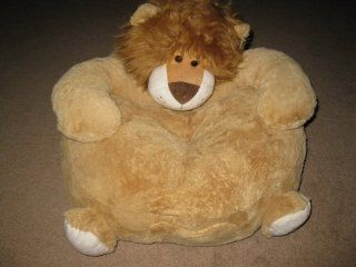 "Stuffed Plush Child's Chair w/Pocket Lion Bushy Mane 24"" x 20"" New Toys & Games"