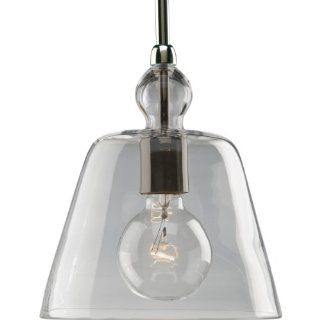 Progress Lighting P5184 104 1 Light Stem Hung Mini Pendant with Clear Glass, Polished Nickel   Ceiling Pendant Fixtures