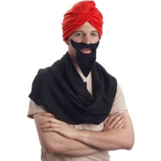 Red Turban Costume Headwrap: Costume Accessories: Clothing
