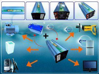 16000 Watt Peak 8000 Watt Modified Sine Wave Power Inverter 24 V Dc Input / 110 V 120 V Ac Output 60 Hz Frequency : Vehicle Power Inverters : MP3 Players & Accessories