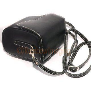 RainbowImaging Black GENUINE Leather Case Bag for Sony NEX 5 NEX 3; Panasonic LX 5 LX 3; Leica D LUX 5, D LUX 4, D LUX 3, V LUX 20, C Lux 3. C Lux 2; Sigma DP2s DP1x DP1s DP2 DP1 cameras  Camera & Photo