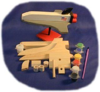 Space Shuttle Wood Craft Kit with Paint, Glue and Brush: Toys & Games