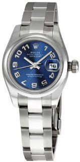 Rolex Datejust Blue Arabic Dial Oyster Bracelet Ladies Watch 179160BLAO: Rolex: Watches