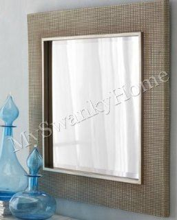"""Large 34"""" SQUARE SILVER Champagne Wall Mirror   Wall Mounted Mirrors"""