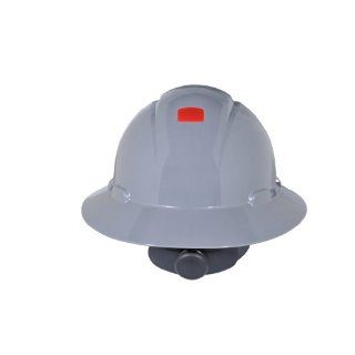 3M Full Brim Hard Hat H 808R UV, 4 Point Ratchet Suspension, Uvicator, Gray Hardhats Industrial & Scientific
