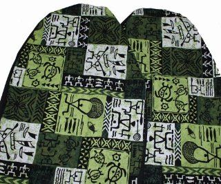 Hawaiian Car Seat Covers, Green Tapa, Set of 2 Front Bucket Seat Covers, Made in Hawaii Usa Automotive