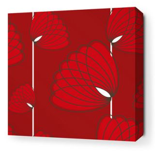 Inhabit Aequorea Lotus Graphic Art on Canvas in Scarlet LOTSCSW Size: 16 x 16