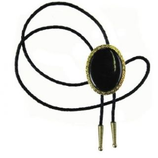 Gold   Black Gold Plated   Stone   Enamel Western Bolo Tie at  Men�s Clothing store