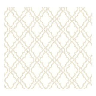 York Wallcoverings WA7711 Waverly Classics Hampton Trellis Wallpaper, Cream/Tan