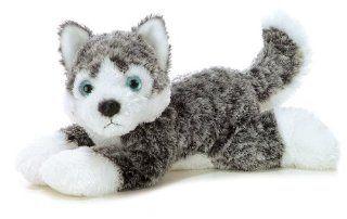 "Aurora Plush Tundra Husky Dog Flopsie   12"" Toys & Games"