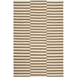 Ralph Lauren Home River Reed Stripe Adobe Rug RLR2221D Rug Size 5 x 8