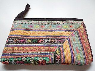 Vintage Classic Hmong / Hill tribe embroidered cosmetic purse hand bag #5