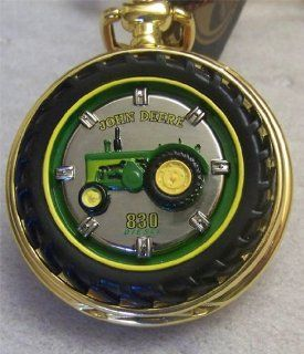 John Deere Franklin Mint Pocket Watch 830 Deisel Tractor: Watches