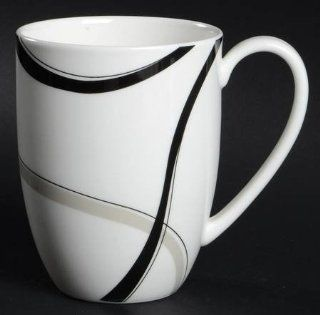 Lenox China Vibe Black & Grey Mug, Fine China Dinnerware