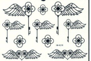 f287c9223eb ... GGSELL GGSELL LATEST new product waterproof and fashionable Black angel  wings tattoo stickers   Body Paint ...