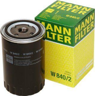 Mann Filter W 840/2 Spin on Oil Filter: Automotive