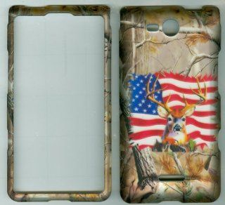 REAL TREE CAMO USA BUCK DEER FACEPLATE PROTECTOR HARD RUBBERIZED CASE FOR LG OPTIMUS EXCEED VS840PP / LUCID 4G VS840 VERIZON PREPAID SNAP ON: Cell Phones & Accessories