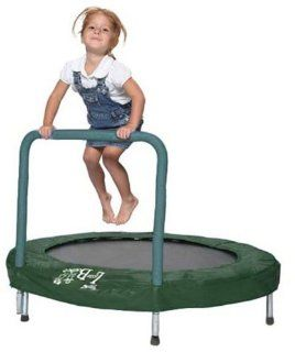 "Bazoongi 48"" Trampoline Bouncer with Easy Hold Handle Bar   Green Toys & Games"