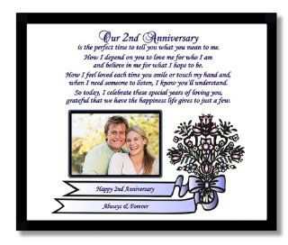 Shop 2nd Anniversary Gift for Husband, Wife, Boyfriend or Girlfriend   Second Anniversary Poem in Black Frame   Add a Photo at the  Home D�cor Store. Find the latest styles with the lowest prices from Poetry Gifts