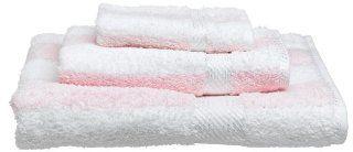 Frenchtex Melody Egyptian Stripe Bath Towel, Pink/Stripe