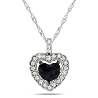 Heart Shaped Diamond Frame Pendant in 14K White Gold   17   Zales
