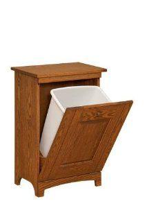 Amish Shaker Wooden Trash Bin   Storage And Organization Products