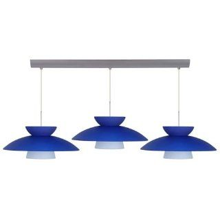 Besa Lighting 3JV 4513 BR Three Light Incandescent Pendant with Bronze Metal Finish from the Mesa Collecti, Blue Matte   Ceiling Pendant Fixtures