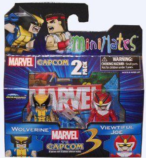 Minimates Marvel vs Capcom 3 Series 2 Wolverine vs Viewtiful Joe Action Figure 2 Pack Toys & Games