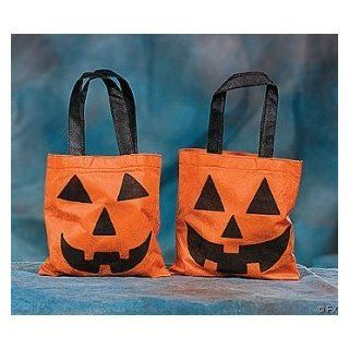 Dozen Orange & Black Jack o' Lantern Treat Bags Toys & Games
