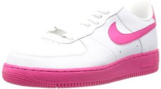 Nike Men's Air Force 1, WHITE/VIVID PINK: Shoes